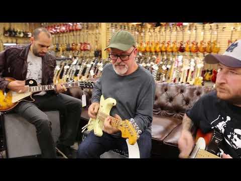 Mark Agnesi, Tim Pierce & Josh Smith jamming at Norman's Rare Guitars