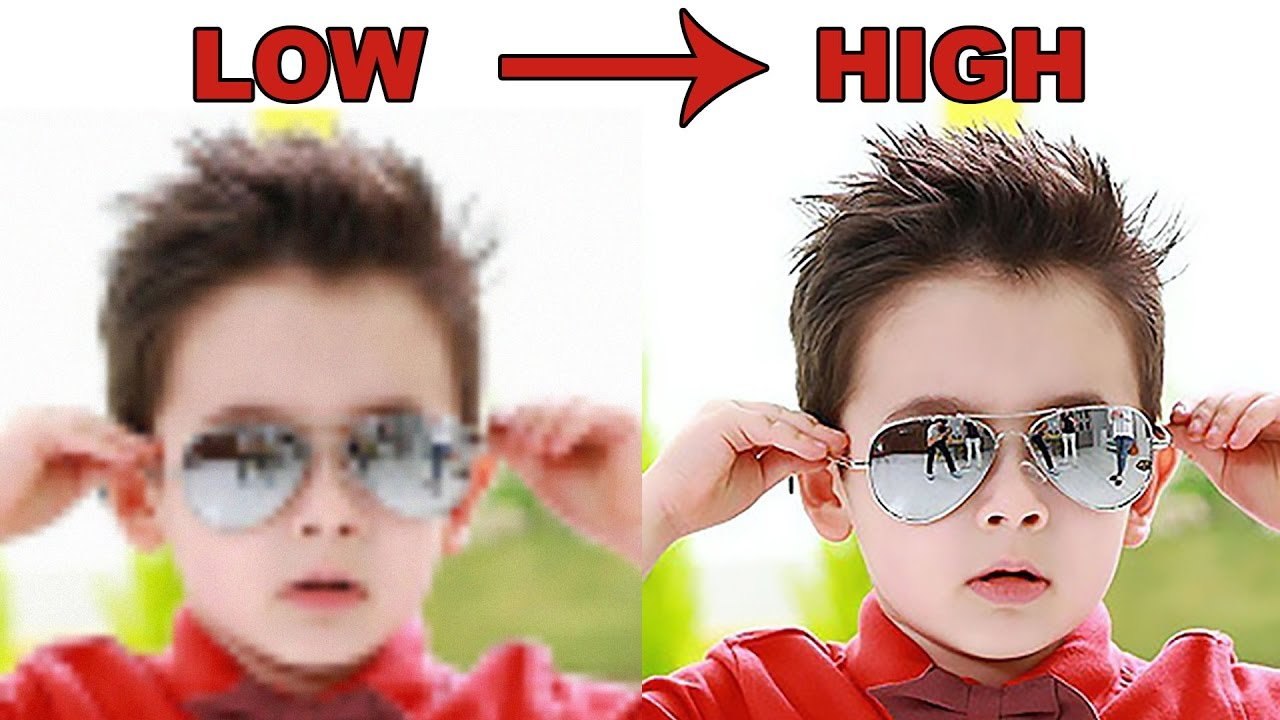 convert image to high resolution photoshop