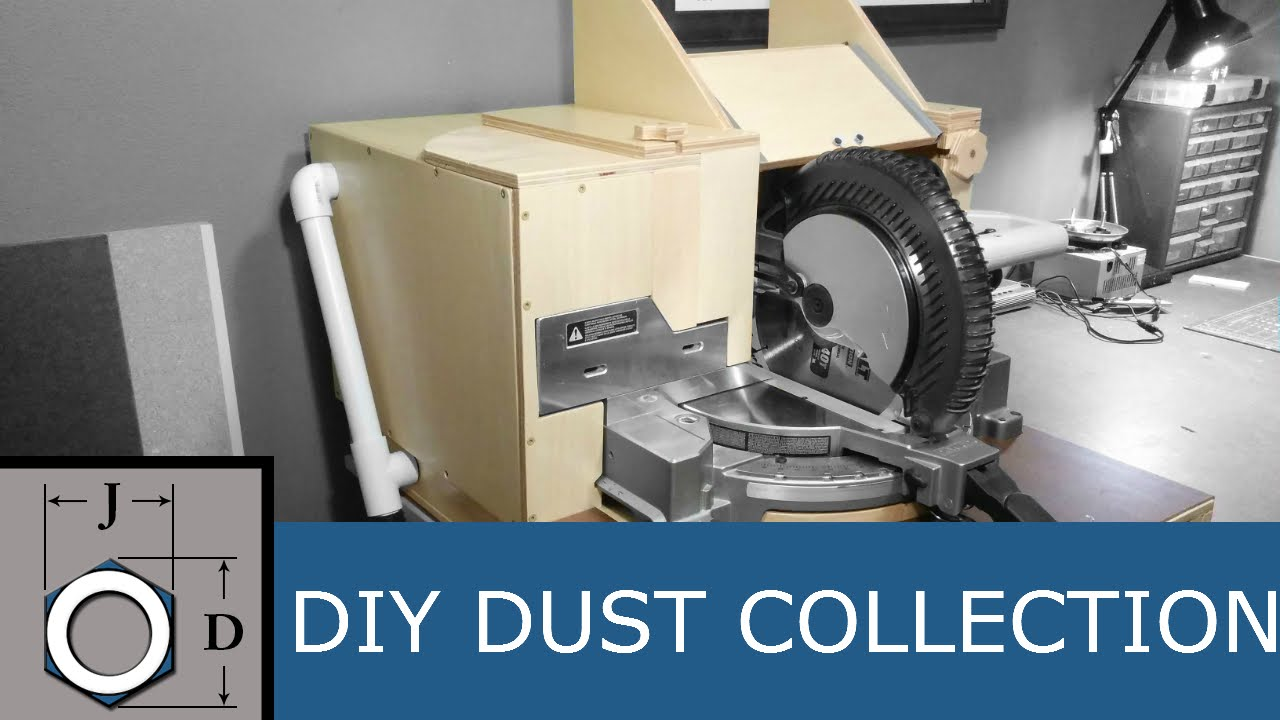 The Ultimate Dust Collection Hood For A Miter Saw Youtube