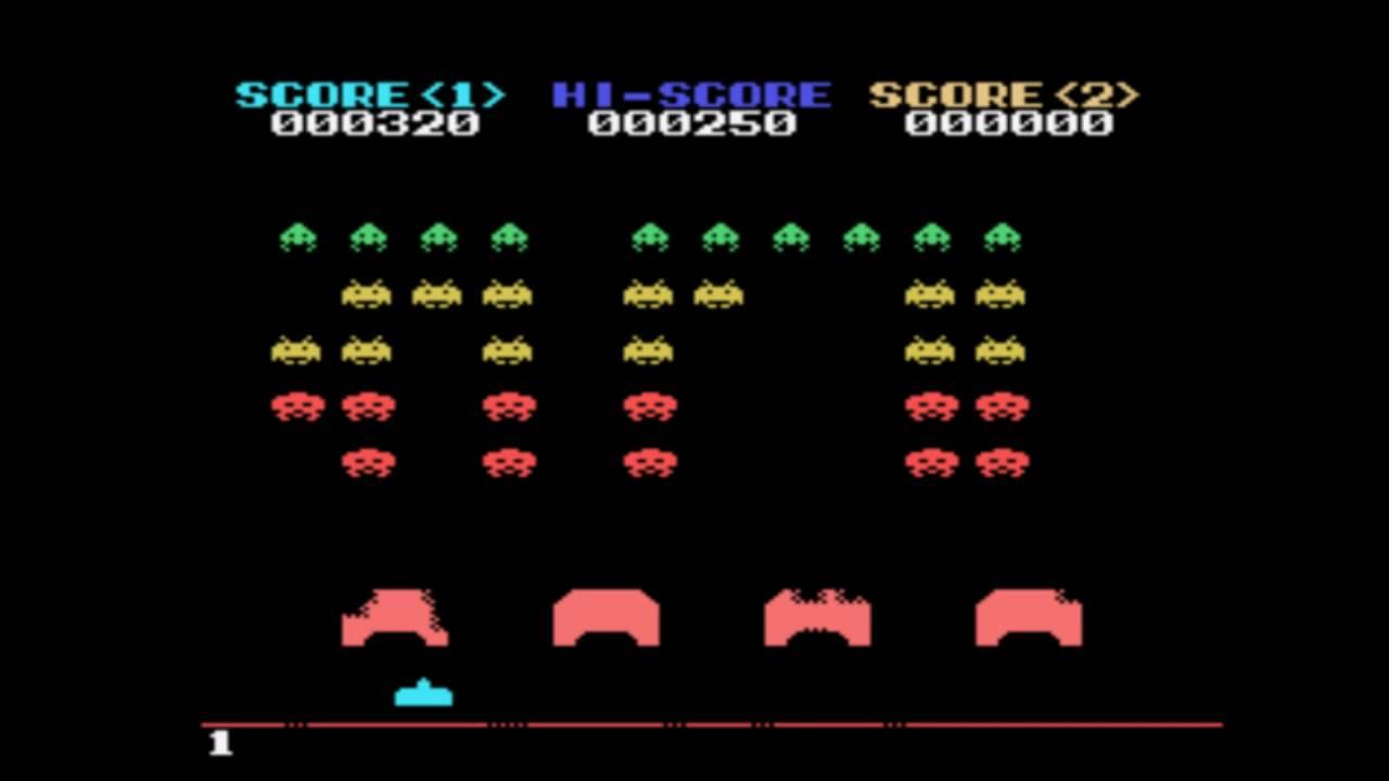 Sega Sg 1000 - Space Invaders Gameplay (HD) - YouTube