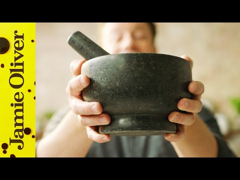 Making Pesto in a Pestle and Mortar | Jamie Oliver