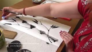 Как рисовать бамбук - художник Ольга Зен