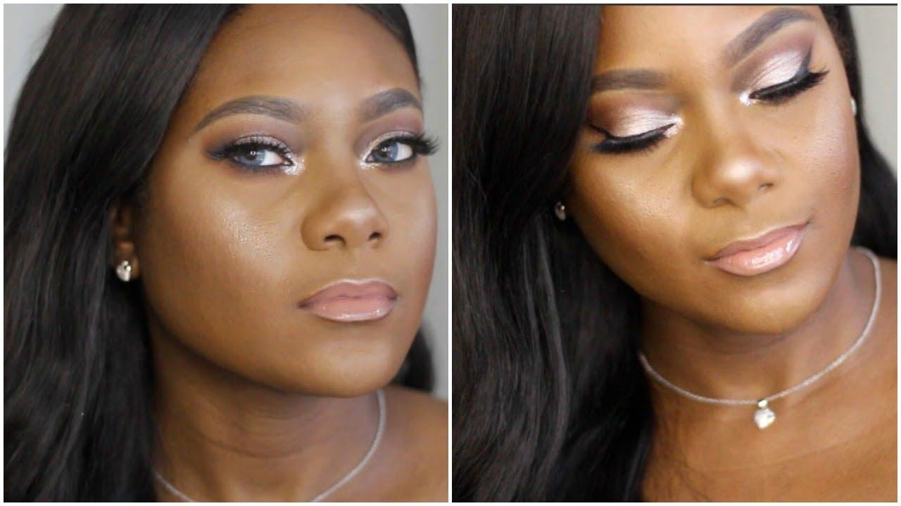 Full face pink shimmer eyeshadow makeup tutorial youtube baditri Images