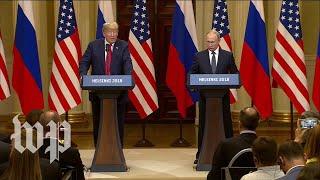Trump, Putin address Russian interference in U.S. elections