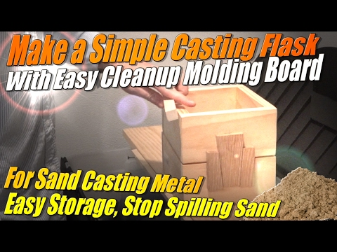 Make a Metal Casting Flask with an Easy Cleanup Molding Board for Sand Casting at Home