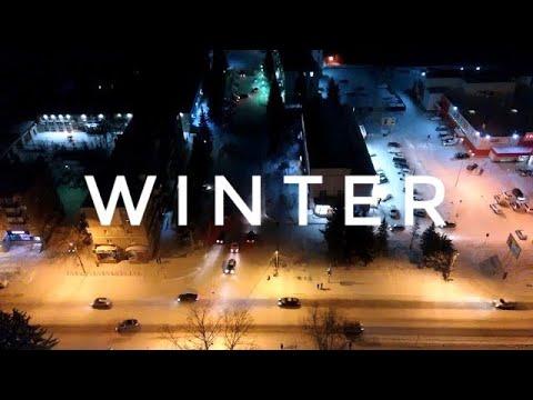 Зимняя Бугульма вечером