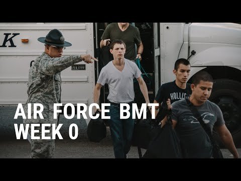 Air Force Basic Training Week 0 shock and awe