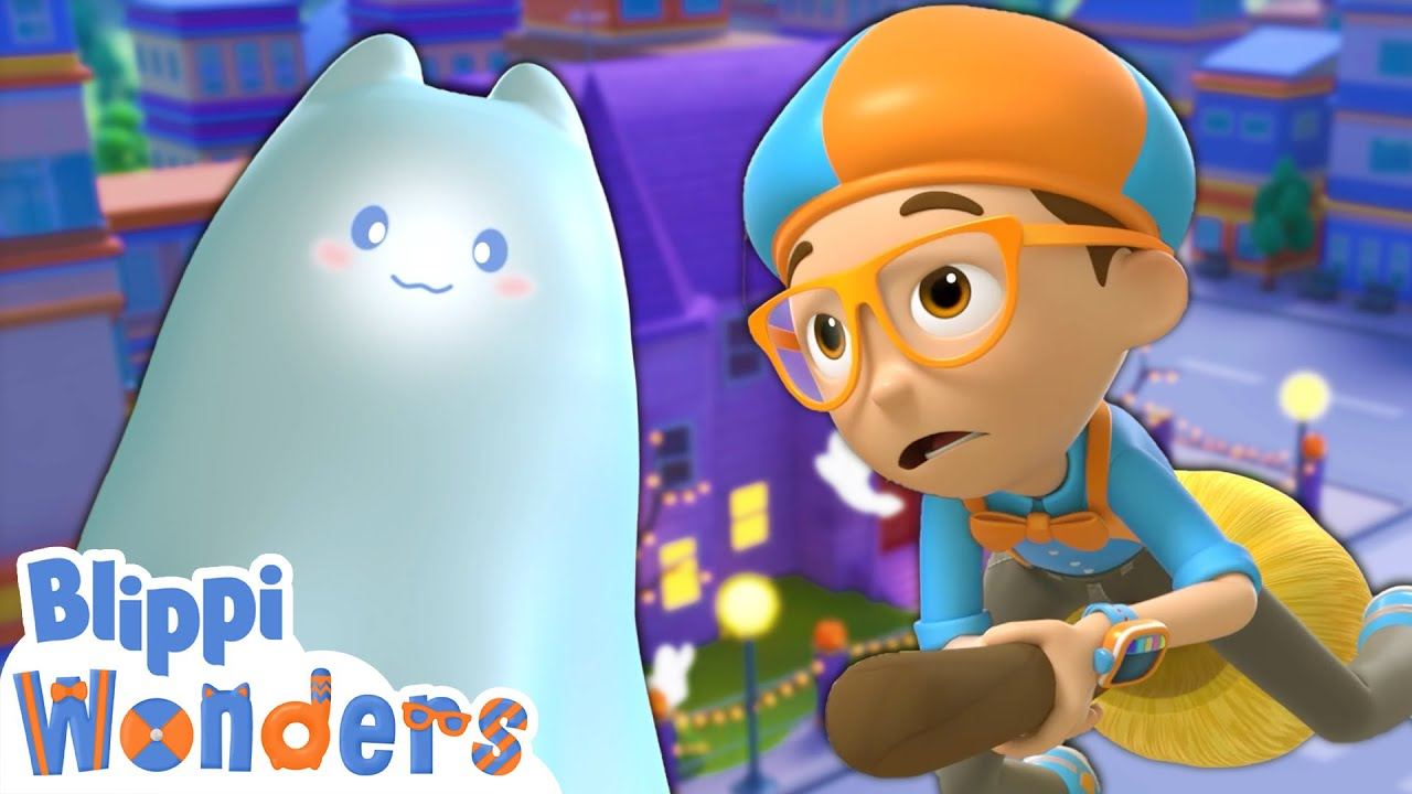 Halloween Haunted House! | Blippi Wonders | Animated Series | Cartoons For Kids
