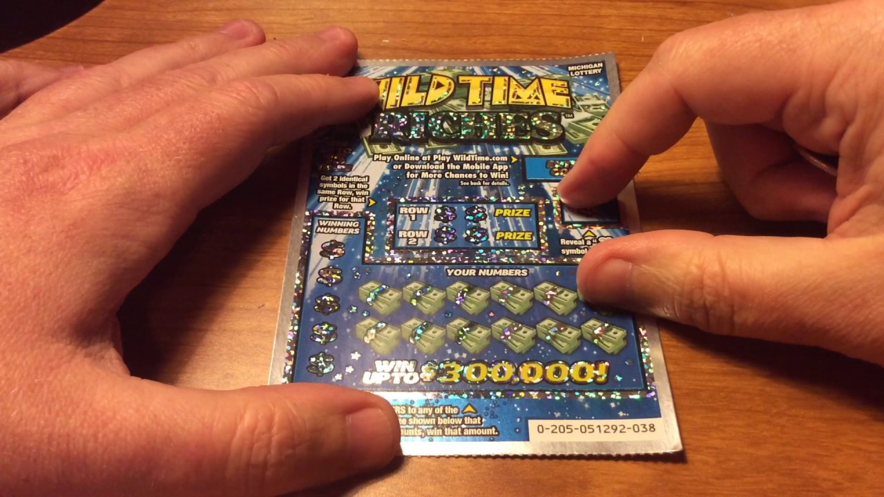 MYSTERY TICKET WINNER! $5 WILD TIME RICHES MICHIGAN SCRATCH OFF