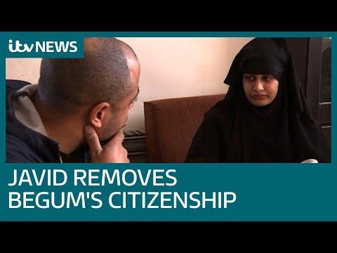 Shamima Begum shocked as citizenship is revoked | ITV News