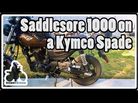 Saddlesore 1000 on a Kymco Spade