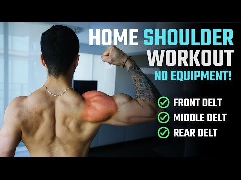 How To Grow Bigger Shoulders At Home (NO WEIGHTS WORKOUT)