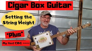 How to build a 3 string Cigar Box Guitar - Setting the string height.