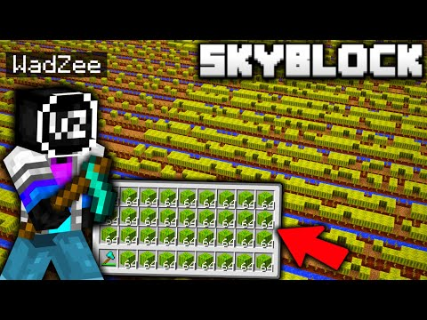 I Built The BIGGEST MELON FARM EVER On Minecraft Skyblock!