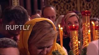 Russisch Orthodoxe Weihnachten: Weihnachtsmesse in Moskau