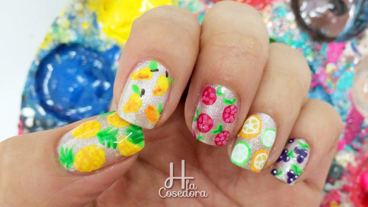 Decoracion de u as frutas fruit nail art youtube - Decoracion de frutas ...
