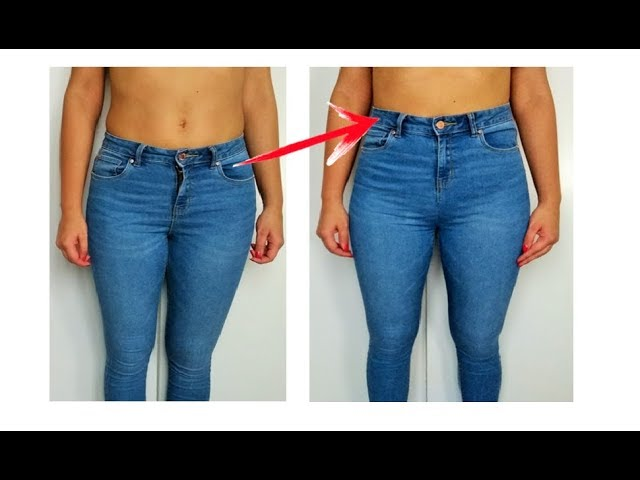 Convertir Jeans Tiro Bajo En Tiro Alto Reciclar Jeans Diy From Low Waist To High Waist Youtube