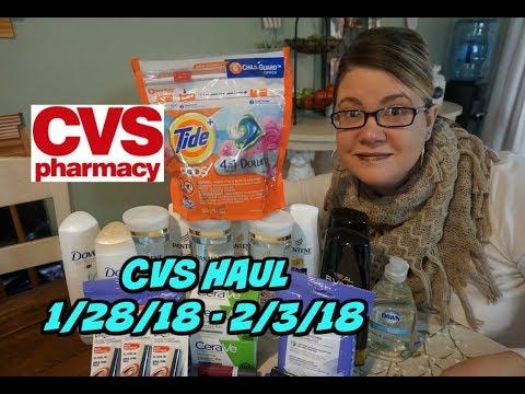 CVS COUPON HAUL 1/28/18 - 2/3/18 | Amazing deals!!