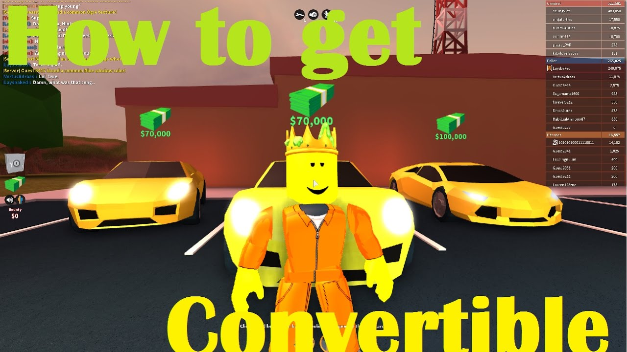 Roblox Jailbreak - How to Get the Convertible Porsche ...