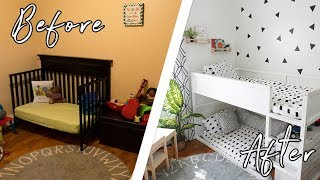 KID'S TINY BEDROOM MAKEOVER ON A BUDGET + DIYS! WE SURPRISED THEM WITH A NEW BEDROOM IN ONE DAY