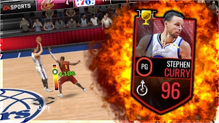 NBA LIVE MOBILE | 96 STEPHEN CURRY IS A CHEAT CODE! MOBILE MARCH MADNESS LEGEND OF MARCH GAMEPLAY