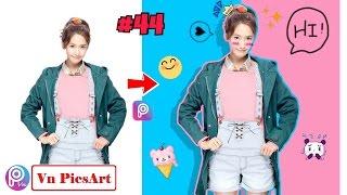 【 PicsArt 】Hướng dẫn tạo nền-vẽ viền 2 màu, đổ bóng, thêm overlay... | PicsArt Editing