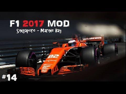 F1 2017 MOD // R14: SINGAPORE-MARINE BAY // MCLAREN-HONDA