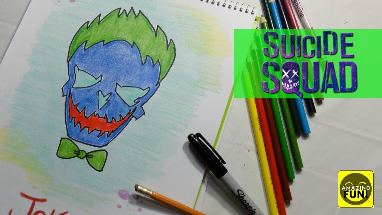 Cómo Dibujar Al Guasón De Escuadrón Suicida