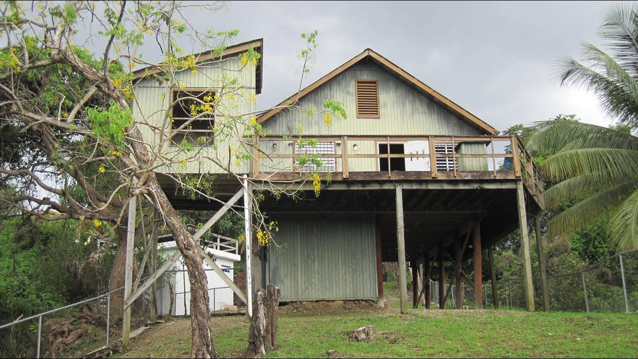 Tropical Wooden House In Rincon Puerto Rico Youtube