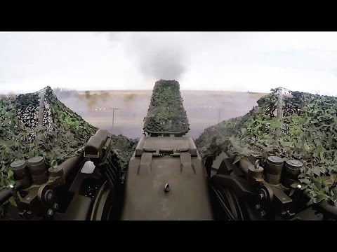 Romanian Anti-Aircraft Gun: Oerlikon GDF 35mm Twin Cannon Live Fire