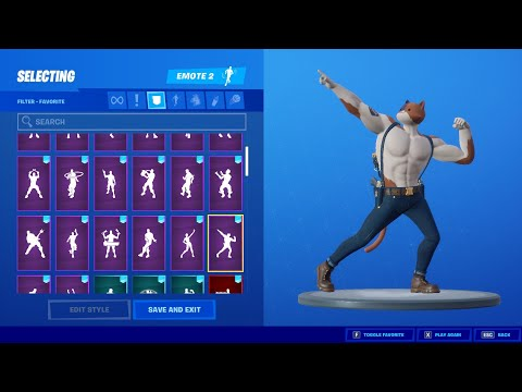 Fortnite Meowscles Skin With all my Fortnite Dances & Emotes! from YouTube · Duration:  16 minutes 6 seconds