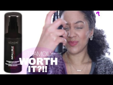L'Oreal Infallible Makeup Setting Spray | DEMO & REVIEW - YouTube