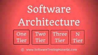 Software-Architektur - One-Tier, Two-Tier, Three-Tier - & N-Tier-Architektur
