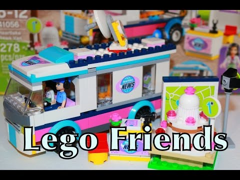 Lego Friends Heartlake News Van Emma & Andrew Legos Playset Toy Review AllToyCollector