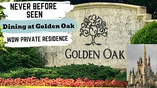 DINING AT DISNEY'S GOLDEN OAK EXCLUSIVE RESTAURANT// Disney's Private Residence Clubhouse Review