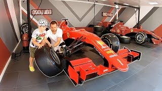 Pretend Play with Cars | Ferrari F1 Pit Stop Pretend Play with Papa