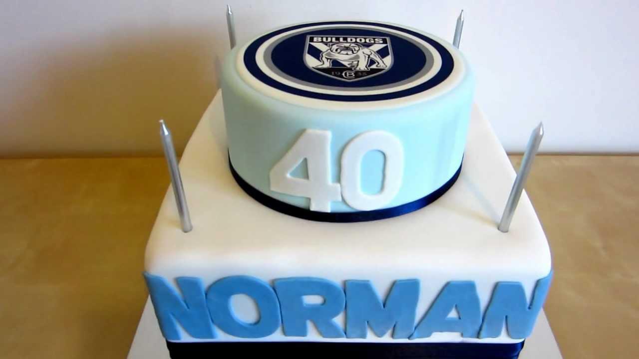 40th Nrl Bulldogs Birthday Cake Youtube