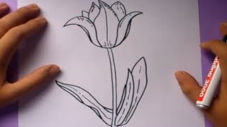 Como dibujar una flor paso a paso 3 | How to draw a flower 3