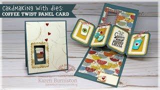Cardmaking with Dies: Coffee Twist Panel Card