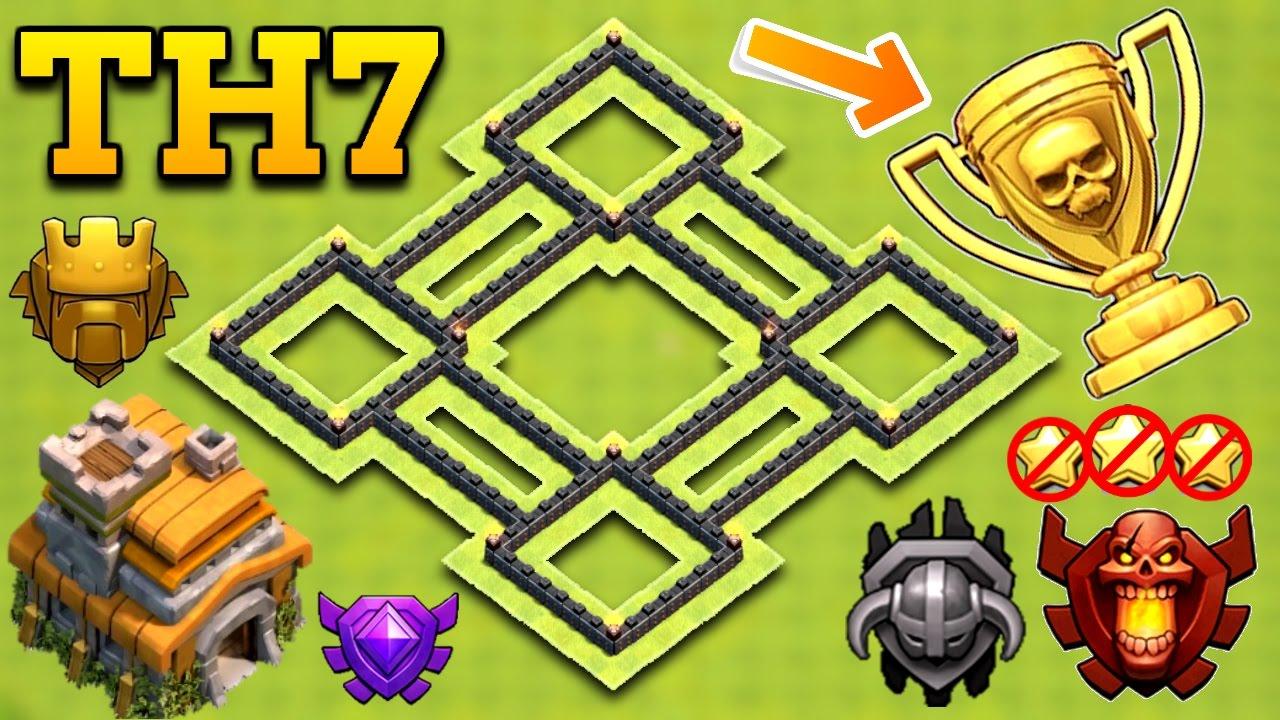 New Insane Town Hall 7 Th7 Trophy Base 2017 Clash Of Clans Youtube