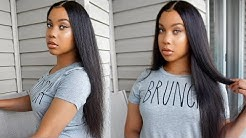 Best Affordable Straight 4*4 Lace Frontal Wig | Ft YolissaHair.com