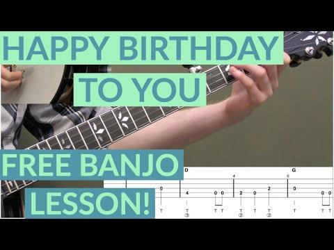 Happy Birthday To You Beginner Banjo Lesson