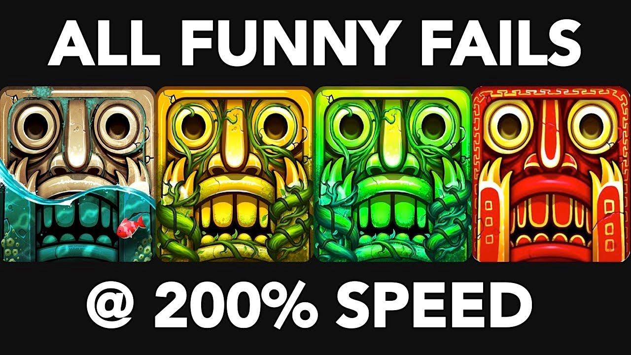 Temple Run 2 FUNNY FAILS | Temple Run 2 Maps, Temple Run 2 Fails at 200% Speed