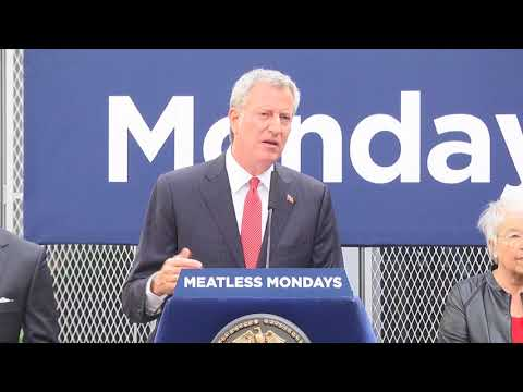 One Brooklyn-- Meatless Mondays Press Conference at PS 1 with City Hall