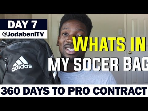 Whats In My SOCCER Bag | FOOTBALL BAG  | Day 7