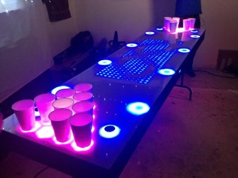 it s an interactive beer pong table youtube rh youtube com Coors Light Beer Pong Table Beer Pong Table Designs