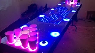 It's an interactive beer pong table