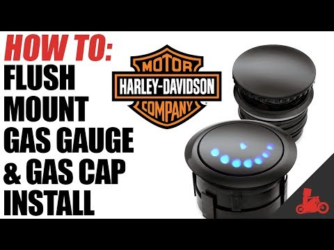How To: Harley Flush Mount Gas Gauge & Cap Install - YouTube Harley Fxr Gas Cap Fuel Guage Wiring Diagram on