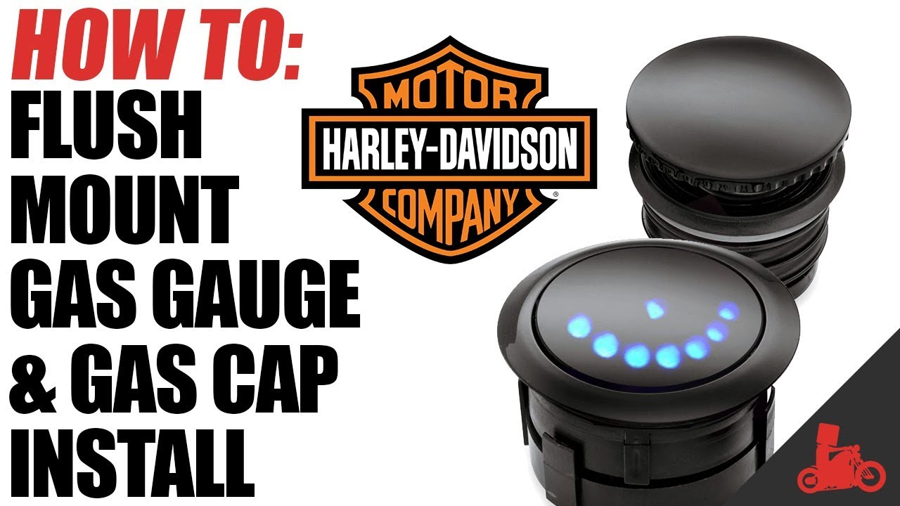 how to harley flush mount gas gauge cap install [ 1280 x 720 Pixel ]