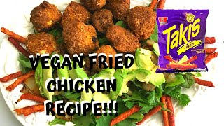 HOW TO MAKE TAKIS VEGAN FRIED CHICKEN WINGS